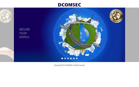 Screenshot of Home Page dcomsec.com - DCOMSEC - captured Sept. 30, 2014