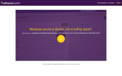Screenshot of Landing Page athenahealth.com - athenahealth - captured June 17, 2016