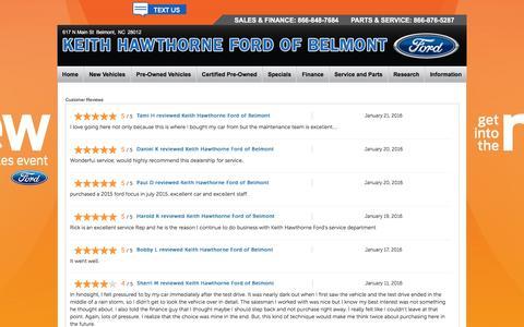 Screenshot of Testimonials Page fordofbelmont.com - Testimonials - captured Feb. 12, 2016