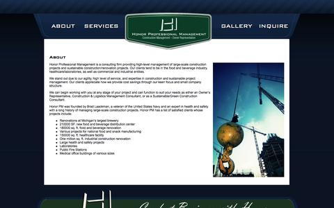 Screenshot of About Page honorpm.com - About  |  Honor Professional Management - captured Oct. 3, 2014