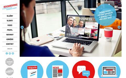 Screenshot of Home Page boomerang.co.com - Boomerang: nejlepší obsah je váš vlastní! - captured Nov. 22, 2016