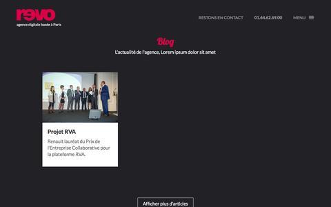 Screenshot of Blog agence-revolutions.com - Blog -   Agence Révolutions - captured Nov. 20, 2016