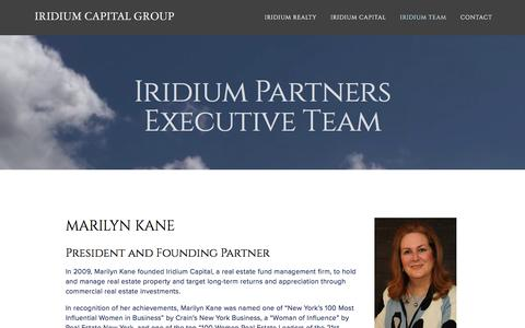 Screenshot of Team Page iridiumcapllc.com - Team — Iridium Capital Group - captured Feb. 11, 2016