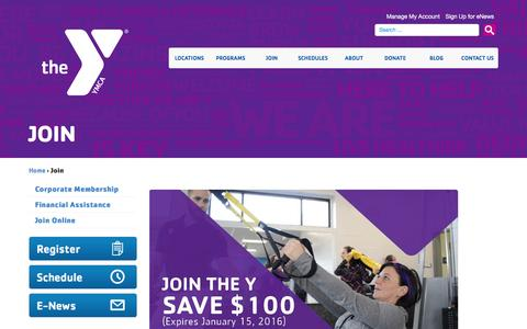 Screenshot of Signup Page cdymca.org - Join - Capital District YMCA - captured Jan. 24, 2016