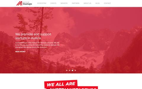 Screenshot of Services Page austrianstartups.com - Services | AustrianStartups - captured Nov. 1, 2015