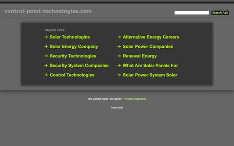 Screenshot of Home Page control-point-technologies.com - Control-Point-Technologies.com - captured Oct. 8, 2014