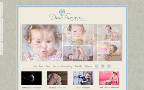 Screenshot of Products Page danistevensphotography.com - Product Brochure » Dani Stevens Photography - captured Oct. 5, 2014