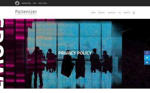 Screenshot of Privacy Page pollenizer.com - Privacy Policy - Pollenizer - captured Nov. 8, 2016