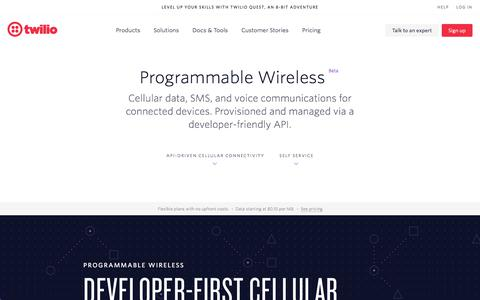 Wireless: Programmable cellular data, SMS, and voice for devices - Twilio