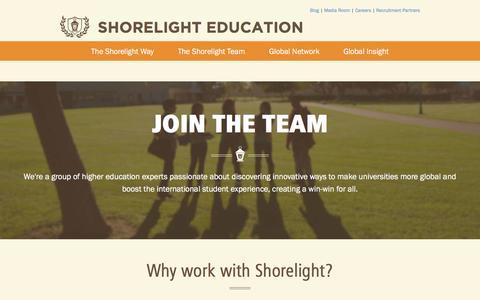 Screenshot of Jobs Page shorelight.com - Career Opportunities - captured Feb. 23, 2016