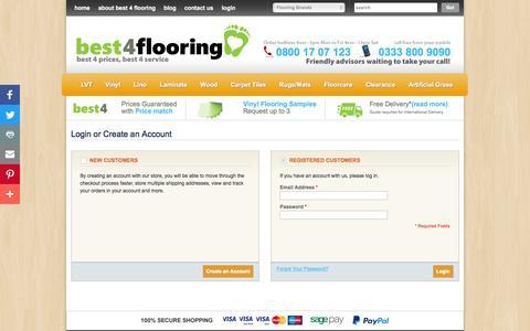 Screenshot of Login Page best4flooring.co.uk - Customer Login  | Best4Flooring - captured July 31, 2016