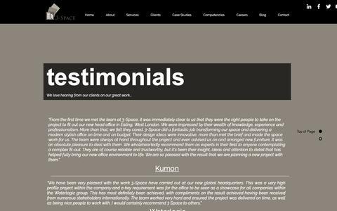 Screenshot of Testimonials Page 3-spaceuk.com - testimonials - captured Oct. 19, 2018