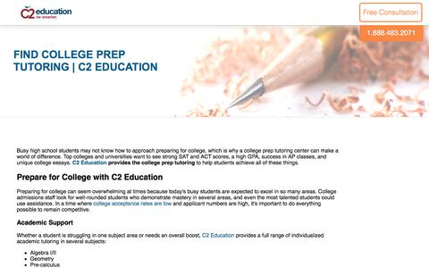 Screenshot of c2educate.com - Find College Prep Tutoring | C2 Education - captured June 1, 2017
