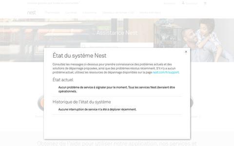 Screenshot of Support Page nest.com - Assistance   Nest - captured Jan. 14, 2018