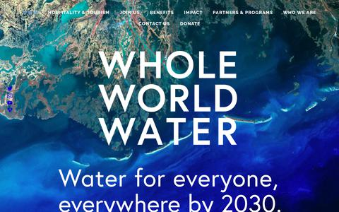 Screenshot of Home Page wholeworldwater.co - WHOLE WORLD WATER - captured Oct. 20, 2018
