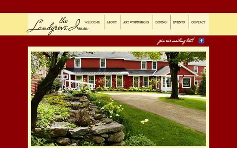 Screenshot of Home Page landgroveinn.com - Welcome to the Landgrove Inn - captured Feb. 25, 2016