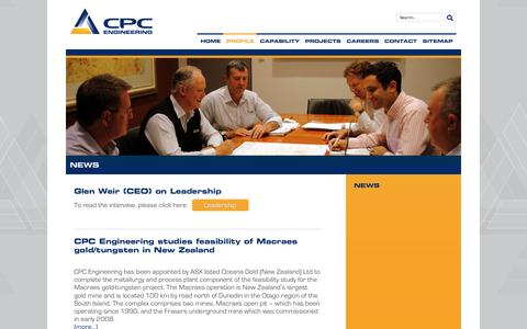 Screenshot of Press Page cpcengineering.com.au - News - CPC Engineering CPC Engineering - captured Dec. 6, 2015