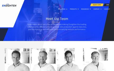 Screenshot of Team Page ensighten.com - The Ensighten team - captured Aug. 28, 2019