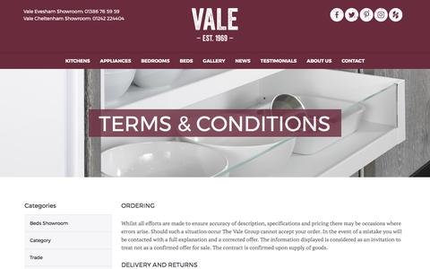 Screenshot of Terms Page thevalegroup.com - Terms & Conditions - captured Oct. 19, 2017
