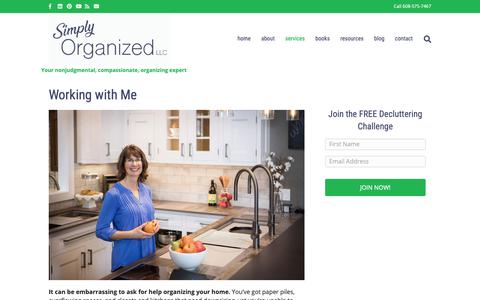 Screenshot of Services Page simplyorganizedwithjill.com - Working with Jill - Simply Organized With Jill - captured Oct. 18, 2018