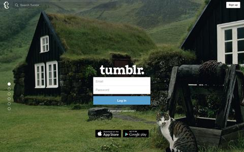 Screenshot of Login Page tumblr.com - Log in | Tumblr - captured Feb. 7, 2016