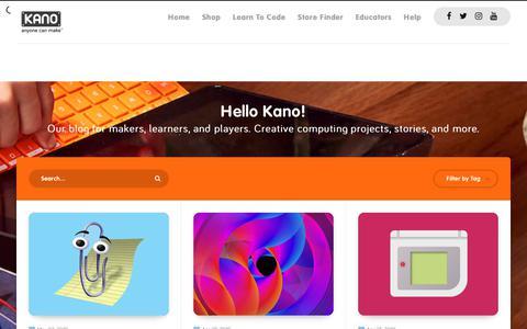 Screenshot of Blog kano.me - Hello Kano! - captured May 4, 2019