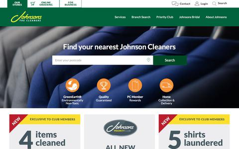 Screenshot of Home Page johnsoncleaners.com - Johnsons Dry Cleaning  | Johnson Cleaners - captured Sept. 22, 2018