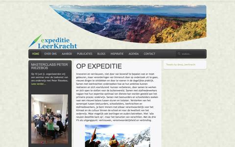 Screenshot of Home Page Privacy Page expeditieleerkracht.nl - Expeditie Leerkracht - captured March 7, 2016