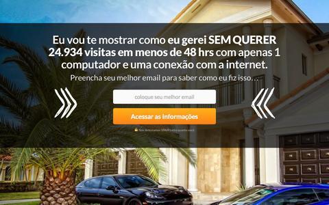 Screenshot of Home Page trafegodigital.com.br - Tráfego Digital - A Revolução - captured Sept. 22, 2014