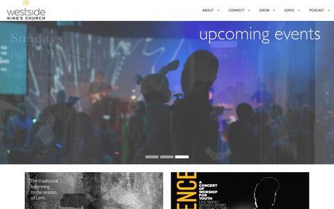 Screenshot of Home Page wkc.org - Westside King's Church - Calgary AB - captured Feb. 14, 2016