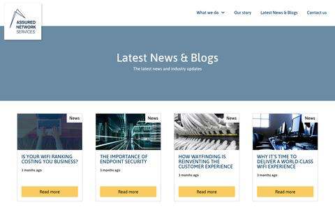 Screenshot of Press Page assured-networks.co.uk - Latest News & Blogs – Assured Network Services - captured Oct. 4, 2018