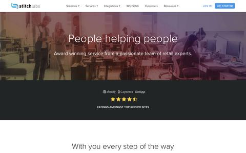 Screenshot of Services Page stitchlabs.com - Customer Success | Stitch Labs - captured March 7, 2018