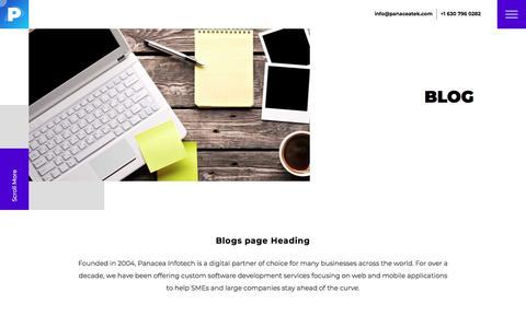 Screenshot of Blog panaceatek.com - Blogs – Web & Mobile App Design, Development | SEO Services Company - captured Nov. 11, 2019