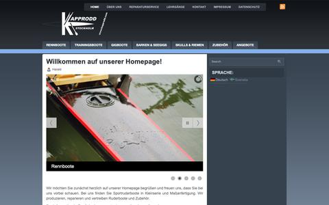 Screenshot of Home Page kapprodd.com - Kapprodd Stockholm – Bootsbaufirma aus Hannover & Stockholm - captured Oct. 29, 2018