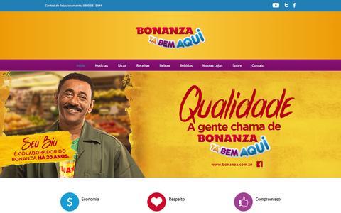 Screenshot of Home Page bonanza.com.br - Bonanza Supermercados - captured Feb. 7, 2016