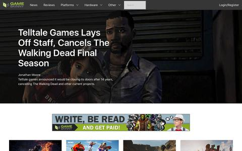 Screenshot of Home Page gameskinny.com - Video Game News, Cheats, Guides, Walkthroughs, Videos, Reviews & Culture - captured Sept. 22, 2018