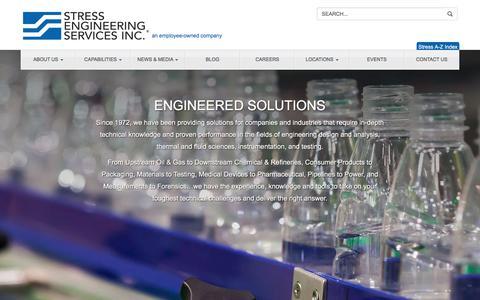 Screenshot of Home Page stress.com - Home - Stress Engineering Services, IncStress Engineering Services, Inc - captured Sept. 24, 2018
