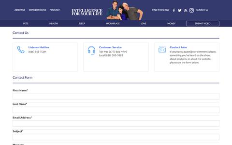 Screenshot of Contact Page tesh.com - Intelligence For Your Life - captured Oct. 18, 2018