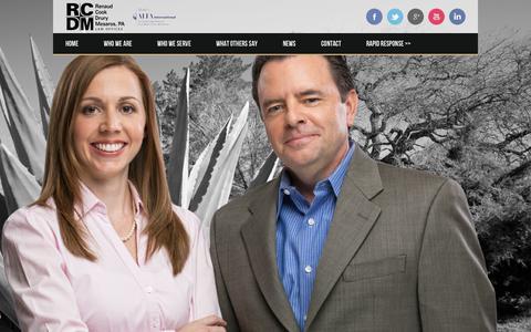 Screenshot of Home Page rcdmlaw.com - Renaud Cook Drury Mesaros, PA | - captured Jan. 26, 2015