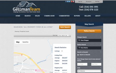 Screenshot of Maps & Directions Page thegellmanteam.com - All Property Types in All Cities - captured Nov. 10, 2018