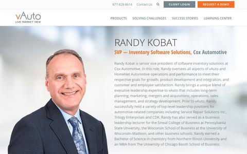 Screenshot of Team Page vauto.com - Randy Kobat, SVP — Inventory Solutions Software | vAuto - captured March 1, 2018