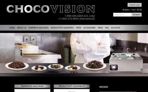 Screenshot of Home Page chocovision.com - Home page - captured July 17, 2018