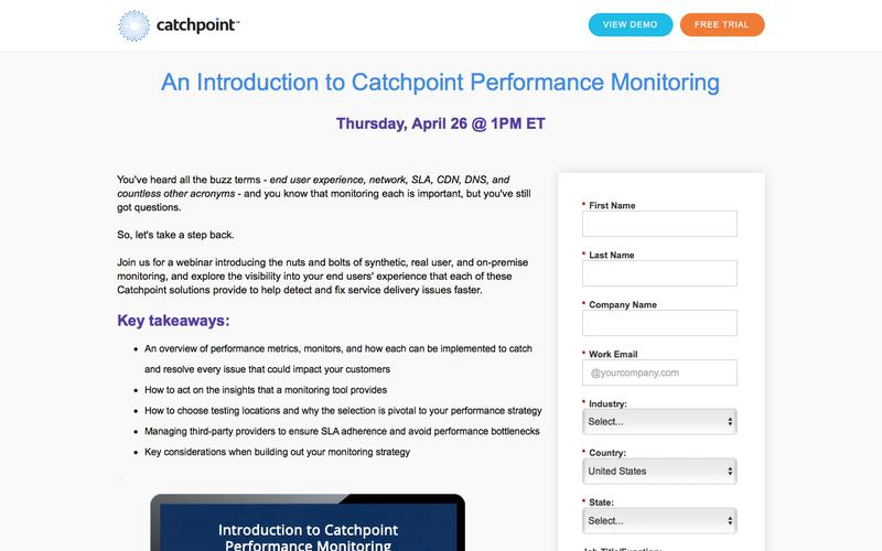 Catchpoint   An Introduction to Catchpoint Performance Monitoring