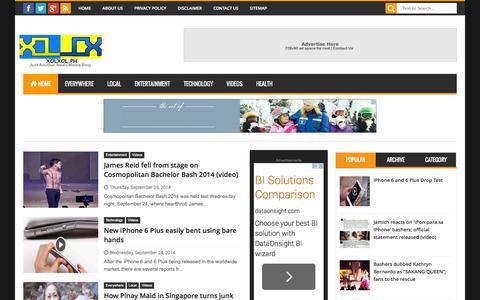 Screenshot of Home Page xolxol.ph - XOLXOL - captured Sept. 25, 2014
