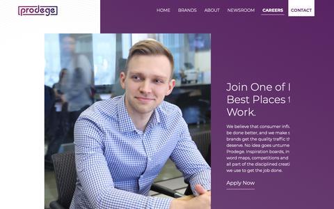 Screenshot of Jobs Page prodege.com - Careers   Prodege : Prodege - captured Feb. 3, 2019