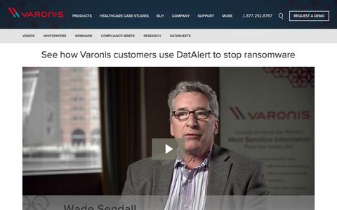 Screenshot of Testimonials Page varonis.com - See how DatAlert stops Ransomware | Varonis Systems - captured Aug. 18, 2016