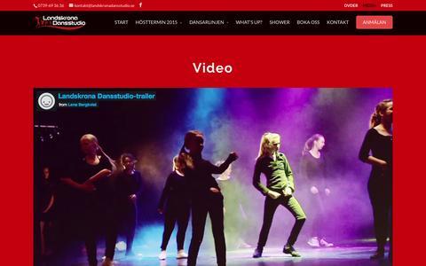 Screenshot of Press Page landskronadansstudio.se - Media | Landskrona Dansstudio - captured Dec. 7, 2015