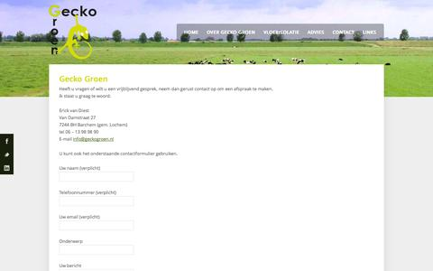 Screenshot of Contact Page geckogroen.nl - Gecko Groen | Contact | Contact opnemen via telefoon, e-mail of contactformulier - captured Sept. 29, 2014