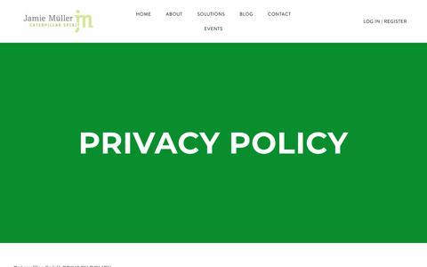 Screenshot of Privacy Page caterpillarspirit.com - Privacy Policy - Caterpillar Spirit - captured Nov. 4, 2018
