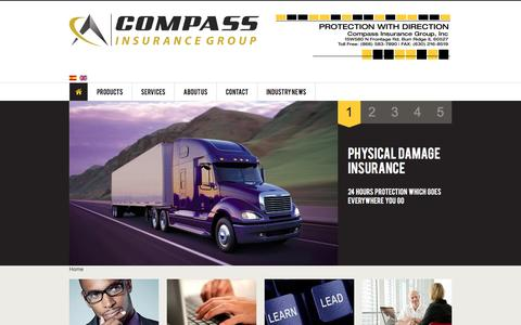 Screenshot of Home Page Privacy Page compassinsure.com - Compass Trucking Insurance - captured April 17, 2016